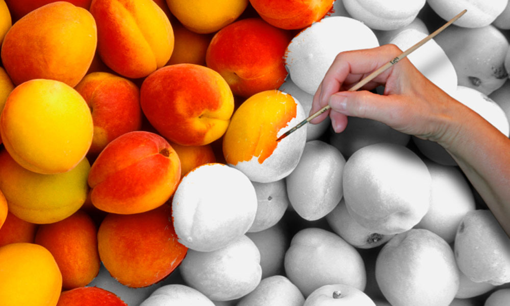 10 ways unleash creative power organization - black and white peaches being painted
