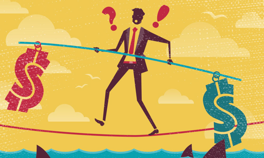 5 businesses with high failure rates - man on a tightrope