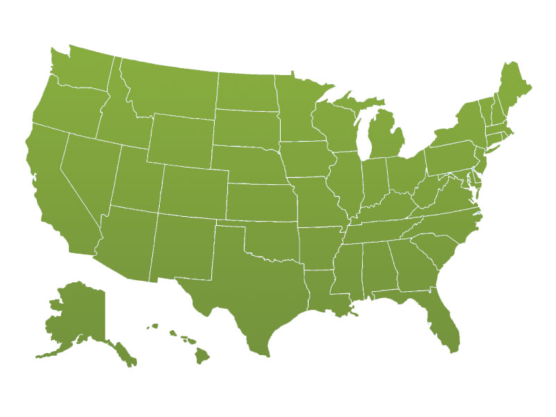 best small business tax rates - green map of united states
