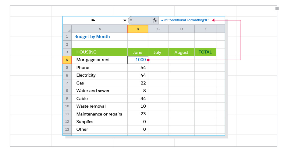 8 Great Tools To Make You An Excel Expert. In A Budget Spreadsheet Categorized By Month Cell B4 Refers To C5 Another Worksheet Called Conditional Formatting This Works Fine Until You. Worksheet. Worksheet Works Excel At Clickcart.co