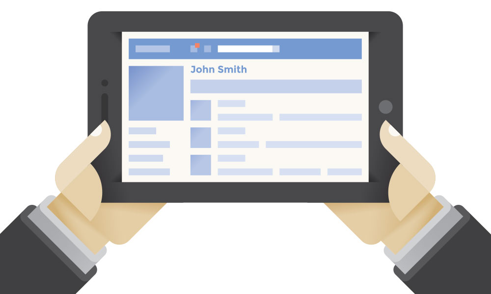 how to grow your facebook audience - hands holding an Ipad