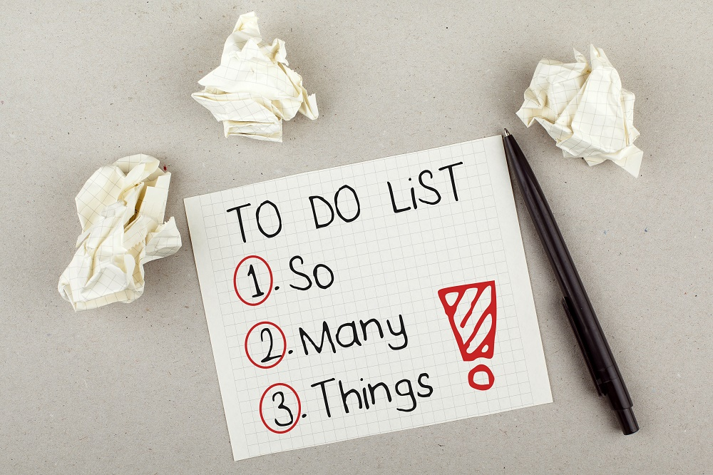 productivity blog header - to do list with 1. So 2. Many 3. Things