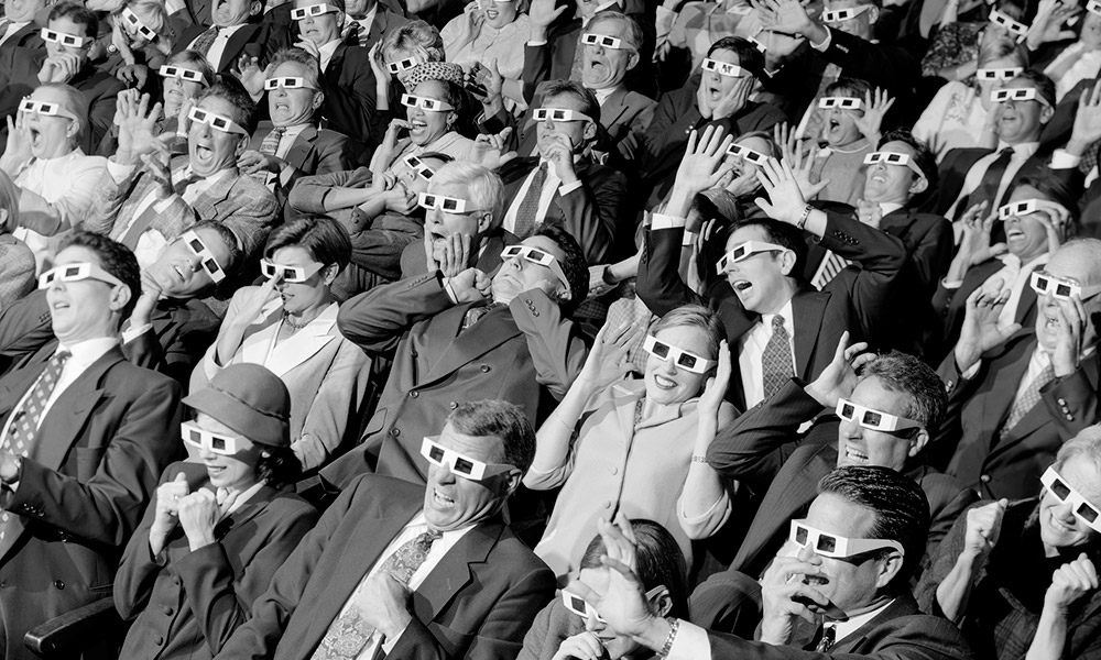 scary scorecard 2016 - group in theater wearing 3-D glasses