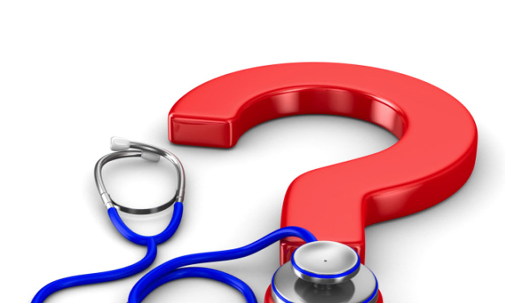 top 5 questions about affordable care act - stethoscope on top of a question mark