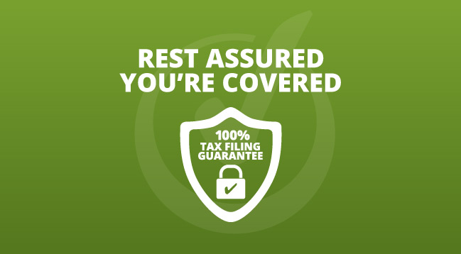 100% Tax Filing Guarantee image.